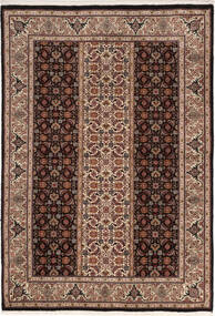 Tabriz 50 Raj Teppe 100X155 Ekte Orientalsk Håndknyttet Mørk Brun/Brun (Ull/Silke, Persia/Iran)