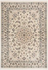 Nain 6La Teppe 112X158 Ekte Orientalsk Håndknyttet Lys Grå/Beige (Ull/Silke, Persia/Iran)