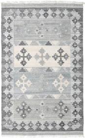 Pet Yarn Kelim Teppe 160X230 Ekte Moderne Håndvevd Lys Grå ( India)
