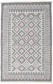 Utendørsteppe Pet Yarn Kelim Teppe 160X230 Ekte Moderne Håndvevd Lys Grå/Mørk Grå ( India)