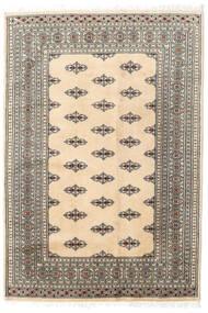 Pakistan Bokhara 2Ply Teppe 127X185 Ekte Orientalsk Håndknyttet Beige/Lys Grå (Ull, Pakistan)