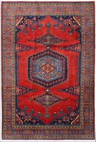 Wiss Teppe 219X328 Ekte Orientalsk Håndknyttet Mørk Rød/Svart/Rust (Ull, Persia/Iran)