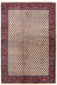 Sarough Mir Teppe 129X194 Ekte Orientalsk Håndknyttet Mørk Lilla/Beige (Ull, Persia/Iran)