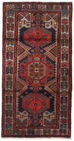 Hamadan Teppe 104X205 Ekte Orientalsk Håndknyttet Mørk Rød/Mørk Grå (Ull, Persia/Iran)