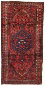 Hamadan Teppe 104X202 Ekte Orientalsk Håndknyttet Mørk Rød/Rust (Ull, Persia/Iran)