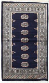 Pakistan Bokhara 2Ply Teppe 93X157 Ekte Orientalsk Håndknyttet Svart/Lys Grå (Ull, Pakistan)