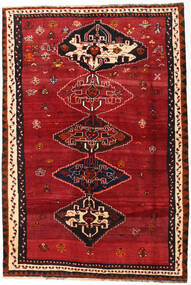 Shiraz Teppe 162X239 Ekte Orientalsk Håndknyttet Mørk Rød/Rød (Ull, Persia/Iran)