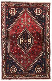 Shiraz Teppe 104X164 Ekte Orientalsk Håndknyttet Mørk Rød/Mørk Brun (Ull, Persia/Iran)