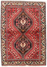 Shiraz Teppe 111X160 Ekte Orientalsk Håndknyttet Mørk Brun/Rust (Ull, Persia/Iran)