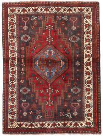 Shiraz Teppe 115X154 Ekte Orientalsk Håndknyttet Mørk Rød/Mørk Brun (Ull, Persia/Iran)
