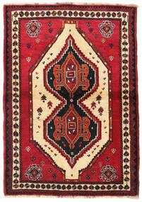 Shiraz Teppe 110X158 Ekte Orientalsk Håndknyttet Mørk Rød/Rød (Ull, Persia/Iran)