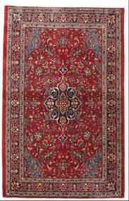 Sarough Teppe 105X165 Ekte Orientalsk Håndknyttet Mørk Rød/Mørk Brun (Ull, Persia/Iran)