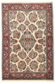 Sarough Teppe 106X160 Ekte Orientalsk Håndknyttet Mørk Grå/Mørk Beige (Ull, Persia/Iran)