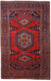 Wiss Teppe 220X350 Ekte Orientalsk Håndknyttet Mørk Rød/Mørk Lilla (Ull, Persia/Iran)