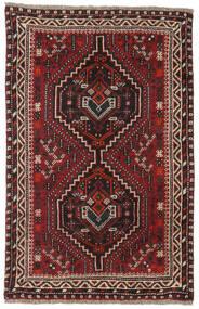 Shiraz Teppe 81X124 Ekte Orientalsk Håndknyttet Mørk Rød/Mørk Brun (Ull, Persia/Iran)