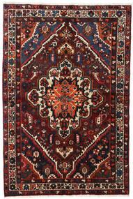 Bakhtiar Teppe 140X210 Ekte Orientalsk Håndknyttet Svart/Mørk Rød (Ull, Persia/Iran)
