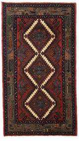 Hamadan Teppe 83X140 Ekte Orientalsk Håndknyttet Svart/Mørk Rød (Ull, Persia/Iran)