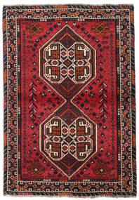 Shiraz Teppe 107X155 Ekte Orientalsk Håndknyttet Svart/Mørk Rød (Ull, Persia/Iran)