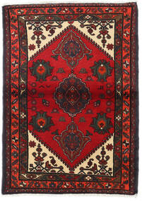 Hamadan Teppe 100X142 Ekte Orientalsk Håndknyttet Mørk Rød/Mørk Brun (Ull, Persia/Iran)