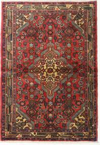 Hamadan Teppe 105X150 Ekte Orientalsk Håndknyttet Mørk Brun/Rust (Ull, Persia/Iran)