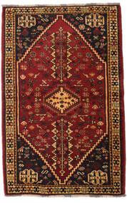Ghashghai Teppe 108X169 Ekte Orientalsk Håndknyttet Mørk Brun/Mørk Rød (Ull, Persia/Iran)
