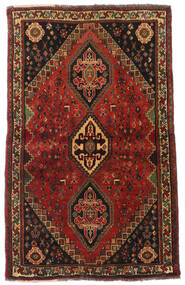 Ghashghai Teppe 105X173 Ekte Orientalsk Håndknyttet Mørk Brun/Mørk Rød (Ull, Persia/Iran)