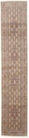 Moud Teppe 77X387 Ekte Orientalsk Håndknyttet Teppeløpere Brun/Beige (Ull/Silke, Persia/Iran)