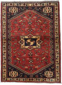 Ghashghai Teppe 105X142 Ekte Orientalsk Håndknyttet Mørk Rød/Svart (Ull, Persia/Iran)