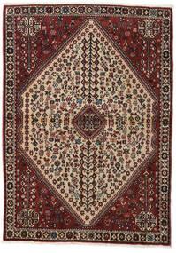 Abadeh Teppe 110X150 Ekte Orientalsk Håndknyttet Mørk Rød/Lysbrun (Ull, Persia/Iran)