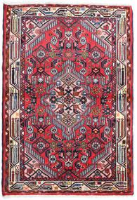 Hamadan Teppe 87X128 Ekte Orientalsk Håndknyttet Mørk Lilla/Mørk Rød (Ull, Persia/Iran)