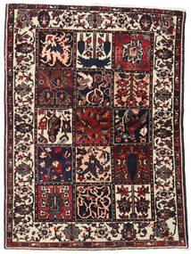 Bakhtiar Teppe 110X151 Ekte Orientalsk Håndknyttet Mørk Brun (Ull, Persia/Iran)