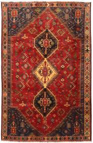 Shiraz Teppe 185X285 Ekte Orientalsk Håndknyttet Mørk Rød/Mørk Brun (Ull, Persia/Iran)