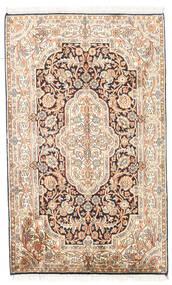 Kashmir Ren Silke Teppe 78X127 Ekte Orientalsk Håndknyttet Beige/Lysbrun (Silke, India)