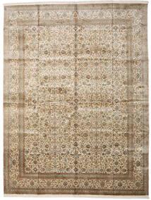 Kashmir Ren Silke Teppe 306X403 Ekte Orientalsk Håndknyttet Lys Grå/Beige Stort (Silke, India)