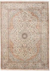 Kashmir Ren Silke Teppe 173X243 Ekte Orientalsk Håndknyttet Lys Grå/Beige (Silke, India)