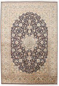 Kashmir Ren Silke Teppe 169X244 Ekte Orientalsk Håndknyttet Beige/Mørk Grå (Silke, India)