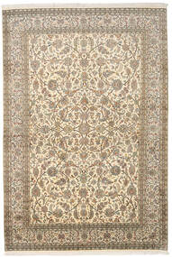 Kashmir Ren Silke Teppe 166X245 Ekte Orientalsk Håndknyttet Mørk Beige/Beige (Silke, India)