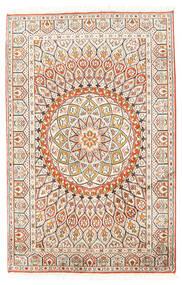 Kashmir Ren Silke Teppe 80X124 Ekte Orientalsk Håndknyttet Beige/Lys Grå (Silke, India)