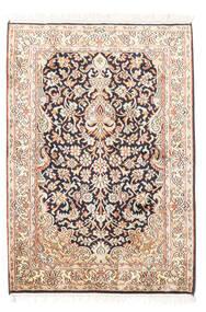 Kashmir Ren Silke Teppe 65X94 Ekte Orientalsk Håndknyttet Beige/Hvit/Creme (Silke, India)