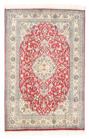 Kashmir Ren Silke Teppe 61X93 Ekte Orientalsk Håndknyttet Hvit/Creme/Lys Grå (Silke, India)