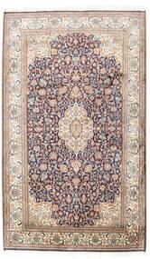 Kashmir Ren Silke Teppe 95X158 Ekte Orientalsk Håndknyttet Lys Grå/Beige (Silke, India)