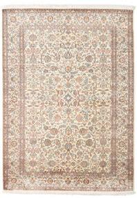 Kashmir Ren Silke Teppe 158X217 Ekte Orientalsk Håndknyttet Lys Grå/Beige (Silke, India)