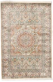 Kashmir Ren Silke Teppe 127X186 Ekte Orientalsk Håndknyttet Lys Grå/Beige (Silke, India)