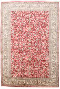 Kashmir Ren Silke Teppe 216X311 Ekte Orientalsk Håndknyttet Lyserosa/Lys Grå (Silke, India)