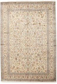 Kashmir Ren Silke Teppe 220X315 Ekte Orientalsk Håndknyttet Lys Grå/Beige (Silke, India)