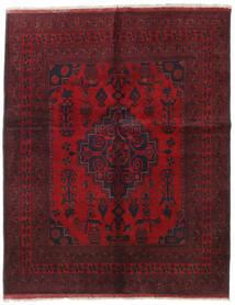 Afghan Khal Mohammadi Teppe 155X194 Ekte Orientalsk Håndknyttet Mørk Rød/Rød (Ull, Afghanistan)