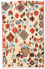 Moroccan Berber - Afganistan Teppe 184X294 Ekte Moderne Håndknyttet Beige/Rød (Ull, Afghanistan)