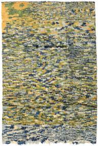 Moroccan Berber - Afganistan Teppe 191X280 Ekte Moderne Håndknyttet Olivengrønn/Mørk Beige (Ull, Afghanistan)