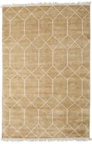 Kiara - Gull Teppe 160X230 Ekte Moderne Håndknyttet Mørk Beige/Lysbrun ( India)