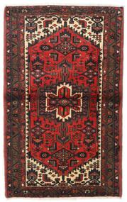 Hamadan Teppe 97X154 Ekte Orientalsk Håndknyttet Mørk Rød/Mørk Brun (Ull, Persia/Iran)
